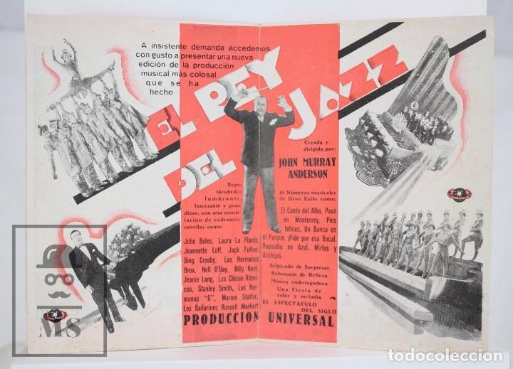 Cine: Programa de Cine Doble - El Rey del Jazz - Carl Laemmle / Universal Pictures, 1935 - Foto 2 - 83284692