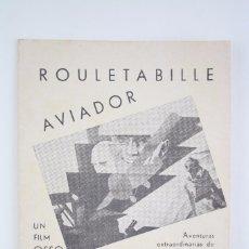 Cine: PROGRAMA DE CINE DOBLE - ROULETABILLE AVIADOR - EQUITABLE FILMS / OSSO, 1935. Lote 83292400