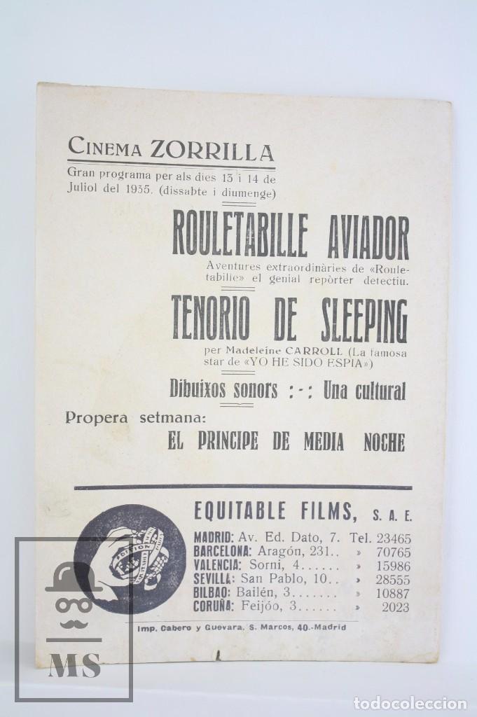 Cine: Programa de Cine Doble - Rouletabille Aviador - Equitable Films / Osso, 1935 - Foto 3 - 83292400