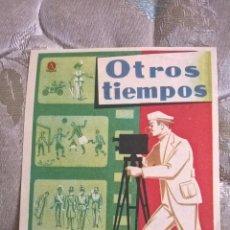 Folhetos de mão de filmes antigos de cinema: OTROS TIEMPOS. PUBLICIDAD AL DORSO DE CINE DE BENICALAP (VALENCIA). Lote 83593164