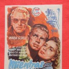 Cine: MIENTRAS ESTES A MI LADO, IMPECBLE SENCILLO ORIGINAL, MARIA SCHELL, SIN PUBLICIDAD. Lote 83949636