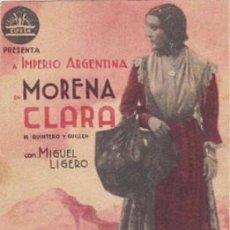 Cine: MORENA CLARA (CON PUBLICIDAD). Lote 83965900