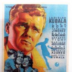 Cine: KUBALA LOS ASES BUSCAN LA PAZ - LADISLAO KUBALA FOLLETO DE MANO ORIGINAL GRAN CINEMA LAS ARENAS. Lote 84345356
