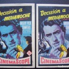 Cine: DECISIÓN A MEDIANOCHE, GREGORY PECK, VARIANTE. Lote 84510892