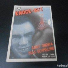 Folhetos de mão de filmes antigos de cinema: KNOCK OUT - AÑOS 30 - TARJETA. Lote 84794968