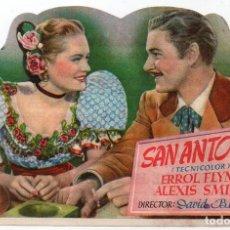 Cine: PRO006 SAN ANTONIO. ERROL FLYNN. PROGRAMA DE MANO. CON PUBLICIDAD. 1949. Lote 84832768