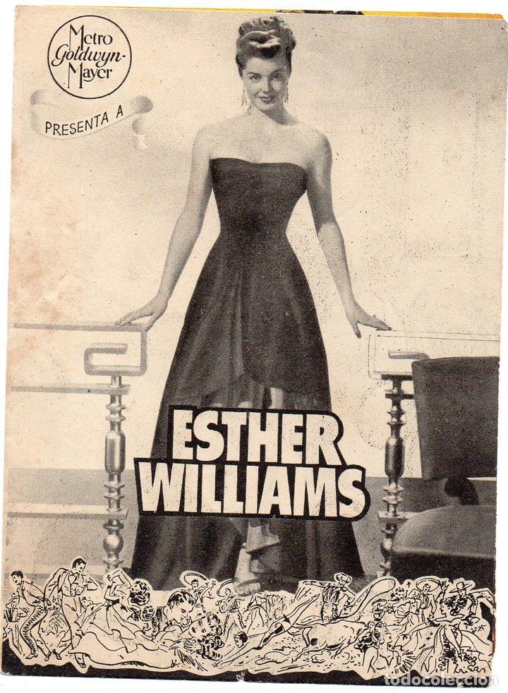 PRO007 FIESTA BRAVA. ESTHER WILLIAMS. PROGRAMA DE MANO. CON PUBLICIDAD. 1947 (Cine - Folletos de Mano - Comedia)