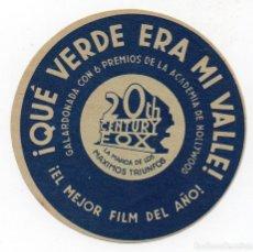 Cine: PRO008 QUÉ VERDE ERA MI VALLE. PROGRAMA DE MANO. CINE TALÍA. RIPOLLET. 1941. Lote 84833680