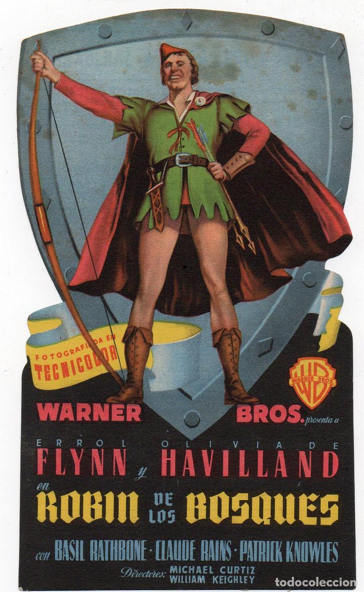 PRO011 ROBIN DE LOS BOSQUES. ERROL FLYNN. CON PUBLICIDAD. 1949 (Cine - Folletos de Mano - Aventura)