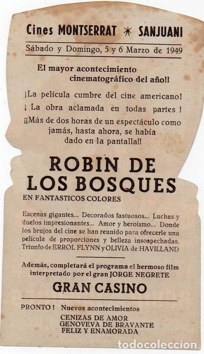 Cine: PRO011 ROBIN DE LOS BOSQUES. ERROL FLYNN. CON PUBLICIDAD. 1949 - Foto 2 - 84834908