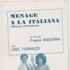 MENAGE A LA ITALIANA