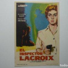 Cine: PROGRAMA EL INSPECTOR LACROIX-RAMON GAY. Lote 84874632