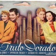 Cine: PRO015 FRUTO DORADO. CLARK GABLE Y SPENCER TRACY. PROGRAMA DOBLE. 1940. Lote 84938120