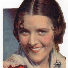 Cine: PRO017 MORENA CLARA. IMPERIO ARGENTINA. DOBLE Y TROQUELADO. RIPOLL. 1936. Lote 84940204