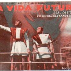 Cine: PRO022 LA VIDA FUTURA. RAYMOND MASSEY. CON PUBLICIDAD. SANT JOAN DE LES ABADESSES. Lote 84943628