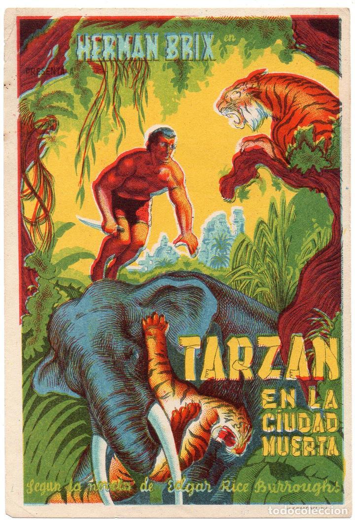 PRO023 TARZÁN EN LA CIUDAD MUERTA. HERMAN BRIX. 1935 (Cine - Folletos de Mano - Aventura)