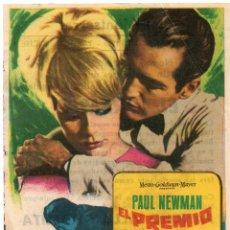 Cine: PRO029 EL PREMIO. PAUL NEWMAN. SENCILLO. CON PUBLICIDAD. SANT JOAN DE LES ABADESSES. 1965. Lote 84949296