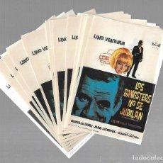Cine: LOTE DE 50 PROGRAMAS DE CINE IGUALES. LOS GANGSTERS NO SE JUBILAN. LINO VENTURA. 9 X 13CM. Lote 85031232