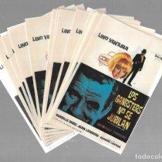 Cine: LOTE DE 50 PROGRAMAS DE CINE IGUALES. LOS GANGSTERS NO SE JUBILAN. LINO VENTURA. 9 X 13CM. Lote 85031260