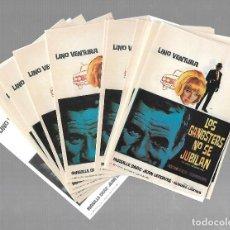 Cine: LOTE DE 50 PROGRAMAS DE CINE IGUALES. LOS GANGSTERS NO SE JUBILAN. LINO VENTURA. 9 X 13CM. Lote 85031416