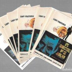 Folhetos de mão de filmes antigos de cinema: LOTE DE 50 PROGRAMAS DE CINE IGUALES. LOS GANGSTERS NO SE JUBILAN. LINO VENTURA. 9 X 13CM. Lote 85031428
