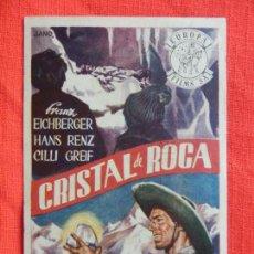 Cine: CRISTAL DE ROCA, IMPECABLE SENCILLO, FRANK EICHBERGER, PUBLI CINE AVENIDA. Lote 85079328