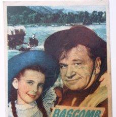 Cine: ES UN PROGRAMA DE MANO ''BASCOB EL ZURDO'' ES UN PROGRAMA DE CINE, DE LOS AÑOS 40. Lote 85169052