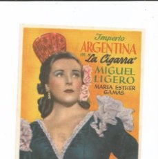 Cine: LA CIGARRA - SENCILLO - CON PUBLICIDAD. Lote 85189492