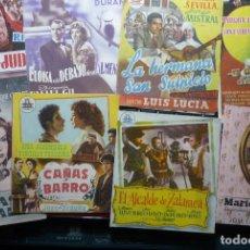 Cine: LOTE PROGRAMAS DOBLES -PELICULAS ESPAÑOLAS- CON Y SIN PUBLICIDAD-BB. Lote 85267040
