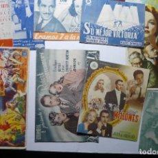 Cine: LOTE PROGRAMAS SENCILLOS Y DOBLES- CON Y SIN PUBLICIDAD BB. Lote 85267132