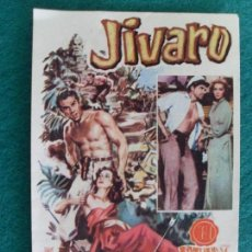 Cine: PROSPECTO PELÍCULA -JIVARO- / CINE DORADO (ZARAGOZA) / 1957. Lote 85322256