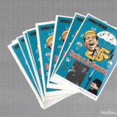 Folhetos de mão de filmes antigos de cinema: LOTE DE 50 PROGRAMAS DE CINE IGUALES. ESPIA A LA FUERZA. NORMAN WISDOM. 9 X 13CM. Lote 85376204