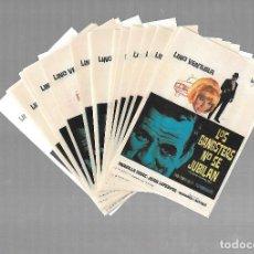 Cine: LOTE DE 50 PROGRAMAS DE CINE IGUALES. LOS GANGSTERS NO SE JUBILAN. LINO VENTURA. 9 X 13CM. Lote 85376360