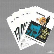 Cine: LOTE DE 32 PROGRAMAS DE CINE IGUALES. LOS GANGSTERS NO SE JUBILAN. LINO VENTURA. 9 X 13CM. Lote 85377772