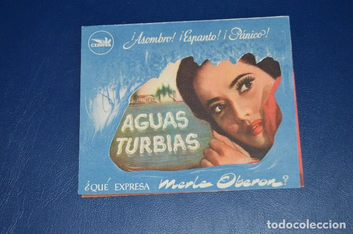 ANTIGUO FOLLETO DE MANO - AGUAS TURBIAS - CEPICSA - RARO, DIFICIL - ¡HAZ OFERTA! (Cine - Folletos de Mano - Suspense)