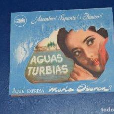 Cine: ANTIGUO FOLLETO DE MANO - AGUAS TURBIAS - CEPICSA - RARO, DIFICIL - ¡HAZ OFERTA!. Lote 85398436