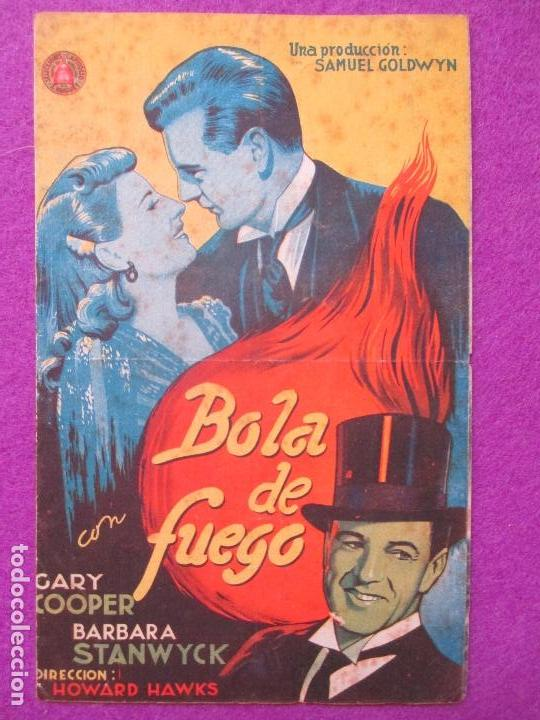FOLLETO DE MANO, PROGRAMA CINE, BOLA DE FUEGO, DOBLE, PM159 (Cine - Folletos de Mano - Comedia)