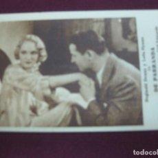 Cine: PROGRAMA DE CINE. CARTON. DE PARRANDA. REGINALD DENNY Y LEILA HYAMS. METRO GOLDWYN MAYER.1932.. Lote 86217044