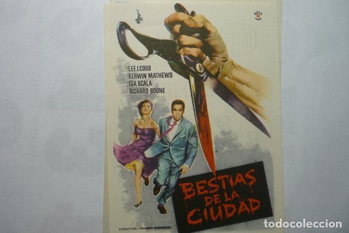 PROGRAMA BESTIAS DE LA CIUDAD - LEE J.COBB PUBLICIDAD (Cine - Folletos de Mano - Terror)