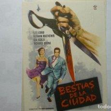 Flyers Publicitaires de films Anciens: PROGRAMA BESTIAS DE LA CIUDAD - LEE J.COBB PUBLICIDAD. Lote 86309640
