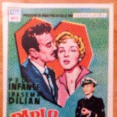 Cine: PABLO Y CAROLINA FOLLETO DE MANO ORIGINAL CINE AVENIDA. Lote 86656100