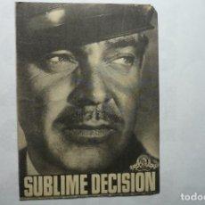 Cine: PROGRAMA SUBLIME DECISION -CLARK GABLE - PUBLICIDAD PRINCIPAL MONTBLANCH. Lote 86689148