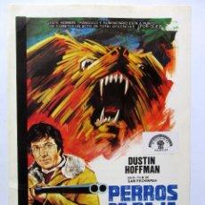 Flyers Publicitaires de films Anciens: PERROS DE PAJA 1971. FOLLETO DE MANO ORIGINAL. DUSTIN HOFFMAN. Lote 86716968