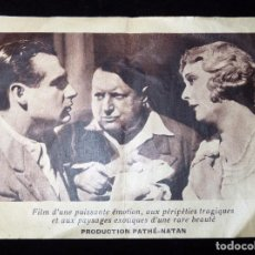 Cine: ANTIGUO PROGRAMA DE MANO PELÍCULA FRANCESA PARTIR, DE MAURICE TOURNEUR. SIMONE CERDAN, 1931. CINE (2. Lote 86820972