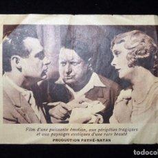 Cine: ANTIGUO PROGRAMA DE MANO PELÍCULA FRANCESA PARTIR, DE MAURICE TOURNEUR. SIMONE CERDAN, 1931. CINE (3. Lote 86821052