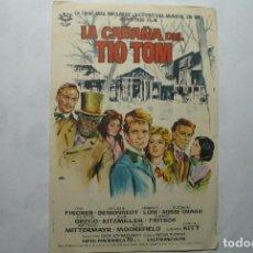 Cine: PROGRAMA LA CABAÑA DEL TIO TOM-O.W.FISCHER - PUBLICIDAD. Lote 86868184