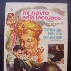Foglietti di film di film antichi di cinema: MI NOVIO ESTÁ LOCO, LOCO... TONY RANDALL, CINES LA ESPERANZA Y ATENEO ARENYENSE DE ARENYS DE MAR. Lote 87081576