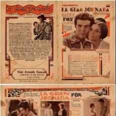 Cine: LA GRAN JORNADA,1931,JORGE LEWIS,CARMEN GUERRERO, . Lote 29349855
