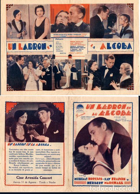 UN LADRON EN LA ALCOBA,(TROUBLE IN PARADISE) (1932), KAY FRANCIS,MIRIAN  HOPKINS