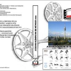 Cine: DOCUMENTAL DE LA HISTORIA DE LOS JUEGOS OLIMPICOS Y REPORTAJE DE LOS JUEGOS DE MUNICH DE 1972. Lote 87423088